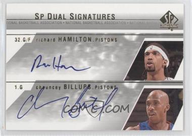 2003-04 SP Authentic - SP Dual Signatures #HD-A - Richard Hamilton, Chauncey Billups