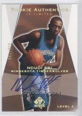 2003-04 SP Authentic Limited #170 - Level 2 Signature - Ndudi Ebi /100