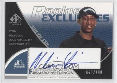 2003-04 SP Game Used - Rookie Exclusive Signatures - [Autographed] #RE37 - Ndudi Ebi /100