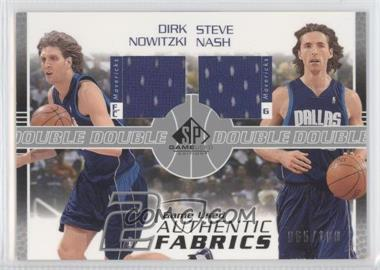 2003-04 SP Game Used Authentic Fabrics Dual #DN/SN-J - Dirk Nowitzki, Steve Nash /100
