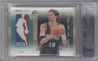 2003-04 SP Game Used Logo Patch #45P - Pau Gasol /1 [BGS 9]