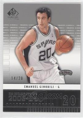 2003-04 SP Signature Edition #214 - Emanuel Ginobili /20