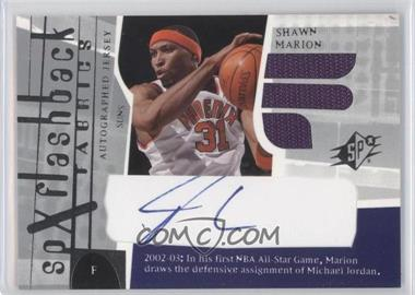 2003-04 SPx - [Base] #200 - SPx Flashback Fabrics Autographs - Shawn Marion