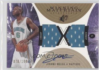 2003-04 SPx - Winning Materials Autographed #JM - Jerome Moiso /100