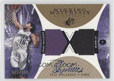 2003-04 SPx - Winning Materials Autographed #PS - Peja Stojakovic /100