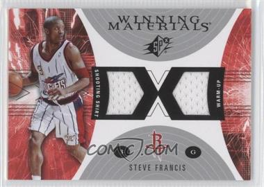2003-04 SPx - Winning Materials #WM25 - Steve Francis