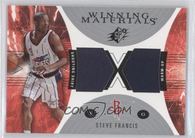 2003-04 SPx Winning Materials #WM25 - Steve Francis