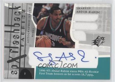 2003-04 SPx #196 - SPx Flashback Fabrics Autographs - Shareef Abdur-Rahim