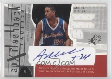 2003-04 SPx #199 - SPx Flashback Fabrics Autographs - Andre Miller