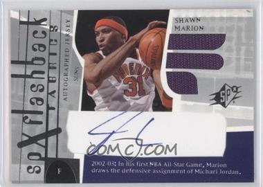 2003-04 SPx #200 - SPx Flashback Fabrics Autographs - Shawn Marion
