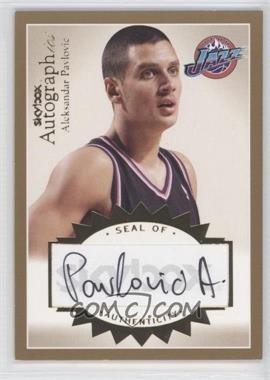 2003-04 Skybox Autographics - Autographics - Gold [Autographed] #A-AP - Aleksandar Pavlovic /50