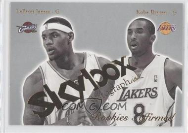 2003-04 Skybox Autographics Rookies Affirmed #12RE - Lebron James, Kobe Bryant
