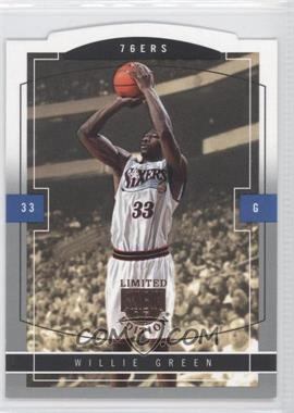 2003-04 Skybox Limited Edition - [Base] #146 - Willie Green /399