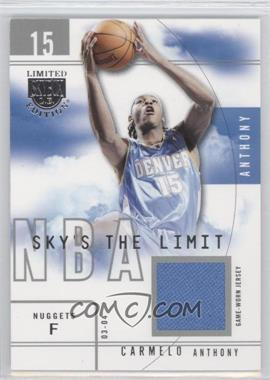 2003-04 Skybox Limited Edition - Sky's the Limit - Parallel 50 Jersey #SL-CA - Carmelo Anthony /50