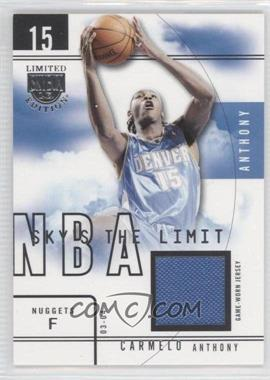 2003-04 Skybox Limited Edition Sky's the Limit Game-Used #SL-CA - Carmelo Anthony /99