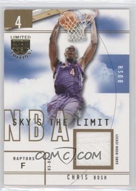 2003-04 Skybox Limited Edition Sky's the Limit Game-Used #SL-CB - Chris Bosh /99
