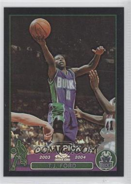 2003-04 Topps Chrome Black Refractor #118 - T.J. Ford /500
