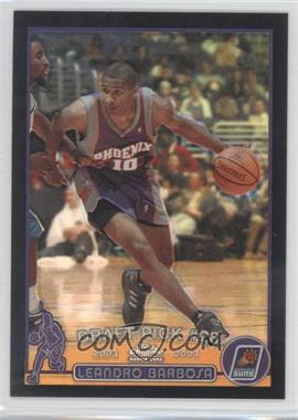 2003-04 Topps Chrome Black Refractor #138.2 - Leandro Barbosa (Portuguese Language) /500
