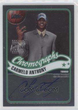 2003-04 Topps Chrome Chromographs #CA-CA - Carmelo Anthony
