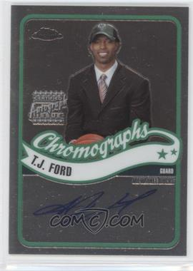 2003-04 Topps Chrome Chromographs #CA-TF - T.J. Ford