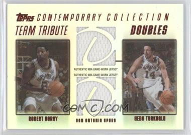 2003-04 Topps Contemporary Collection Team Tribute Doubles Relics Red #TTD-HT - Robert Horry, Hedo Turkoglu /50