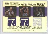 Mike Bibby, Peja Stojakovic, Bobby Jackson /200