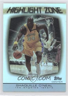 2003-04 Topps Highlight Zone #HZ-2 - Shaquille O'Neal