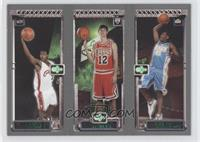 Carmelo Anthony, Kirk Hinrich, Lebron James
