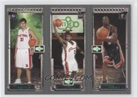 Dwyane Wade, Lebron James, Darko Milicic