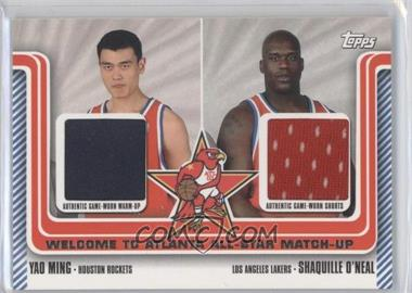 2003-04 Topps Welcome to Atlanta All-Star Matchups Dual Relics #WA-17 - Shaquille O'Neal, Yao Ming