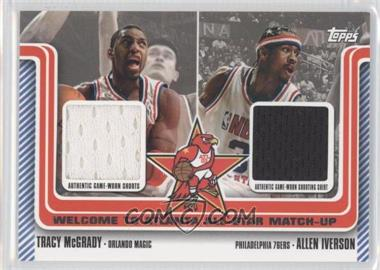 2003-04 Topps Welcome to Atlanta All-Star Matchups Dual Relics #WA-19 - Tracy McGrady, Allen Iverson