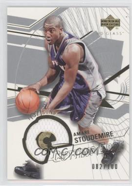 2003-04 UD Glass - Cutting Edge #CE-AS - Amar'e Stoudemire /100