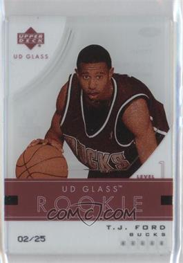 2003-04 UD Glass Glass Acetate Crystal Collection #94 - T.J. Ford /25
