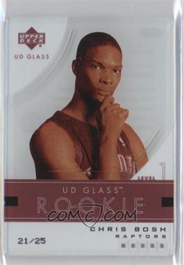 2003-04 UD Glass Glass Acetate Crystal Collection #96 - Chris Bosh /25
