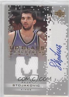 2003-04 UD Glass Monumental Marks #PS-J - Peja Stojakovic