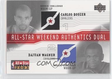 2003-04 Upper Deck All-Star Weekend Authentics Dual #AS-CB/DW - Carlos Boozer, Dajuan Wagner