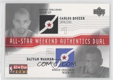 2003-04 Upper Deck All-Star Weekend Authentics Dual #AS-CB/DW - Carlos Boozer, Dajuan Wagner