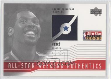 2003-04 Upper Deck All-Star Weekend Authentics #AS-NH - Nenê
