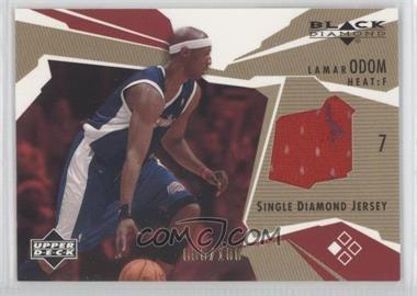 2003-04 Upper Deck Black Diamond Diamond Jersey Single Gold #BD-LO - Lamar Odom /100