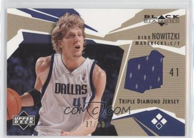 2003-04 Upper Deck Black Diamond Diamond Jersey Triple Gold #BD3-DN - Dirk Nowitzki /50