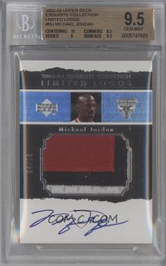 2003-04 Upper Deck Exquisite Collection Limited Logos [Autographed] #LL-MJ - Michael Jordan /75 [BGS 9.5]