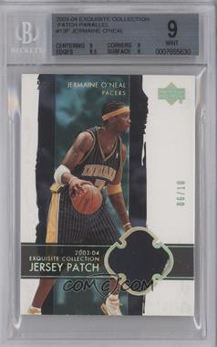 2003-04 Upper Deck Exquisite Collection Patch #13-P - Jermaine O'Neal /10 [BGS9]