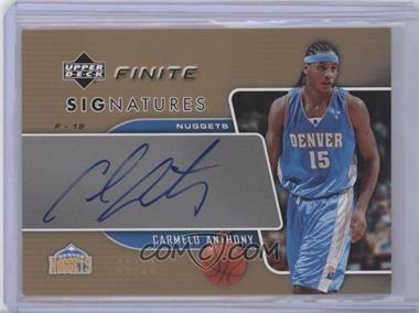 2003-04 Upper Deck Finite Signatures Gold #CA - Carmelo Anthony /10