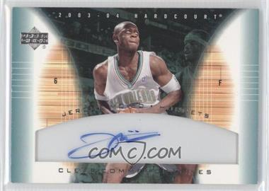 2003-04 Upper Deck Hardcourt - Clear Commemoratives - [Autographed] #JM-A - Jerome Moiso
