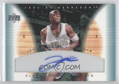 2003-04 Upper Deck Hardcourt Clear Commemoratives [Autographed] #JM-A - Jerome Moiso