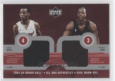 2003-04 Upper Deck Honor Roll All-NBA Authentics Dual Warm-Ups #CB/DW - Caron Butler, Dwyane Wade
