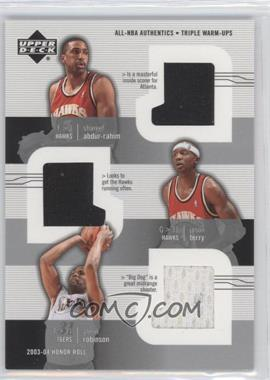 2003-04 Upper Deck Honor Roll All-NBA Authentics Triple Warm-Ups #SA/JT/GR - Shareef Abdur-Rahim, Jason Terry, Glenn Robinson