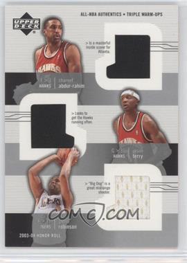 2003-04 Upper Deck Honor Roll All-NBA Authentics Triple Warm-Ups #SA/JT/GR - Shareef Abdur-Rahim, Jason Terry, Glenn Robinson