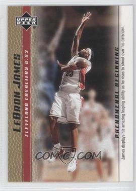 2003-04 Upper Deck Lebron James Phenomenal Beginning - Box Set [Base] - Gold #12 - Lebron James