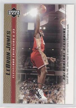 2003-04 Upper Deck Lebron James Phenomenal Beginning - Box Set [Base] - Gold #18 - Lebron James